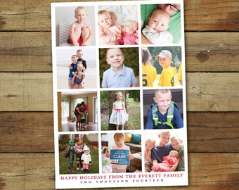 Instagram Christmas card, new year card or holiday card