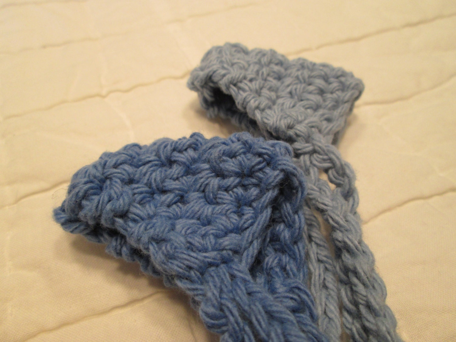 Crocheted Nose Warmers Set of 2 Country Blue and by yarnsoffun
