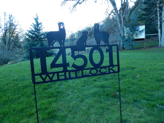 Beautiful Metal Address Sign For Your Roadside Or Front Yard