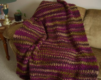 Crochet,  Patons Big Boucle Vineyard Colour Aghan,  size 46 inches x 60 inches, Accessory