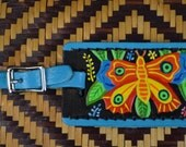 Luggage Tag with Mola Butterfly