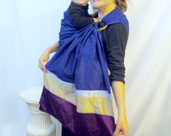 Silk Double Layer Ring Sling Dupioni Baby Carrier - Four Colorway Stack - DVD included - Ready to Ship
