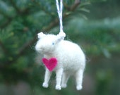 All You Need is Love - Valentine Lamb Ornament in Pink