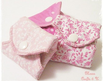 Variety Pack Set of 3 Cloth Mama Pads with Wings PANTYLINER Thickness.. 8 Inch FREE Shipping