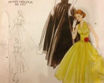 Vogue V2962 Vintage Dress Pattern Size AAX 4 6 8 10 Reproduction 50s Pattern