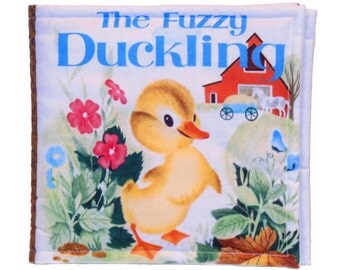 SOFT BOOK for CHILDREN - Made From The Fuzzy Duckling Fabric