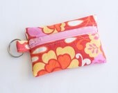 Small Zipper Pouch, Ear Bud Holder, Credit Card Case, Cynthia