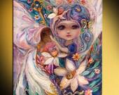 The Zodiac Fairies series Aquarius limited series art print based on original paining of Israeli artist Elena Kotliarker Best gift for girls