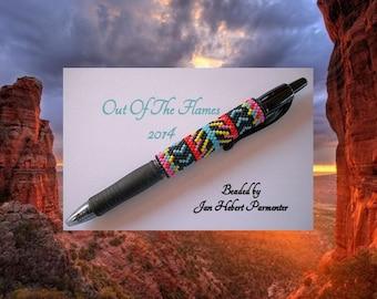 Bead PATTERN Yuma G2 Pen Wrap Peyote Brick Stitch