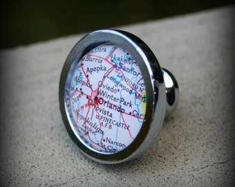 Orlando Map Cabinet Knob
