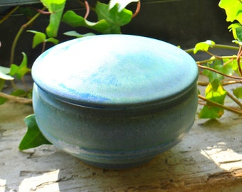 Blue-Green Pet Urn