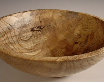 Spalted Hackberry Wood Bowl Turned Wooden Bowl Number 5825