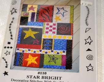 Star Bright Quilting Pattern   Uncut Complete