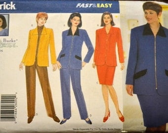 Sewing Pattern Butterick 5155 Women's Jacket, Skirt and Pants Size 14W-16W- 18W Bust  36- 38-40  inch Uncut Complete