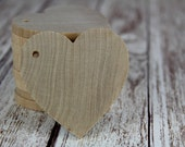 Unfinished Wooden Heart