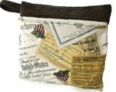 Elvis Presley Makeup Bag , Clutch Purse , Makeup Organizer , Travel Organizer , Memorabilia , US Army , Dog Tags Stripes , 1958 , Retro