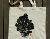 Screenprinted Tat Soi Tote Bag