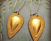 Julia Earrings Ancient Roman inspired  jewelry in gold tone brass