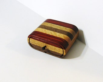Treasure Box With Secret Drawer Made Of Three Woods