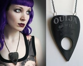 black Ouija planchette necklace - smarmyclothes halloween gothic occult