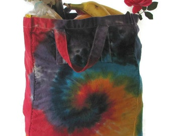 Tie Dye Canvas Shopping Bag Tote