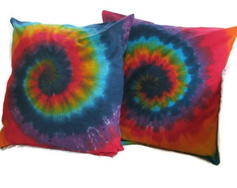 Tie Dye Rainbow Swirl XL Throw Pillow Case