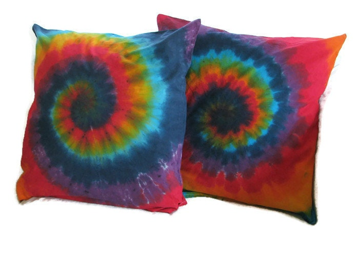 Xl Throw Pillows : Tie Dye Rainbow Swirl XL Throw Pillow Case