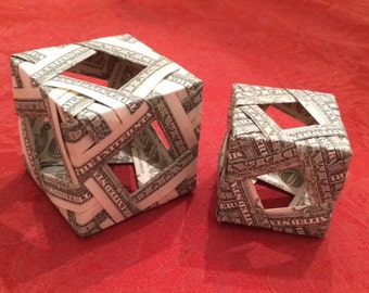 Origami Open Window Money Cube - 2 Different Styles