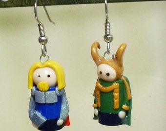 Thor and Loki earrings