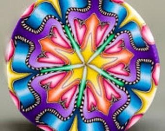 Circle Kaleidoscope Polymer Clay Cane -'Sweet Hope' (48dd)