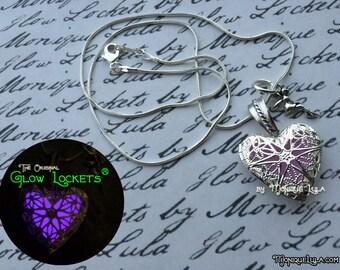 Heart of the Fairy Glow Locket ® Glowing Necklace Jewelry