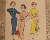 Great 1950s Butterick dress pattern #8360 Size 14 Bust 34