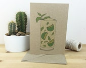 mojito cocktail card (with recipe) 100% recycled