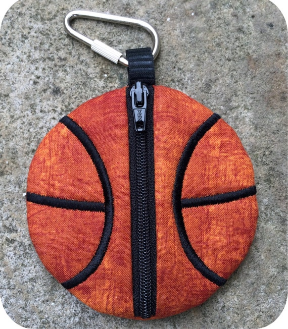In the hoop basketball pouches set machine embroidery