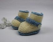 KNITTING PATTERN For Baby Booties, Boots in 2 Sizes PDF 298b digital download