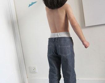 PDF e pattern - Kids Double Waist Pants / Trousers - Size 7Y