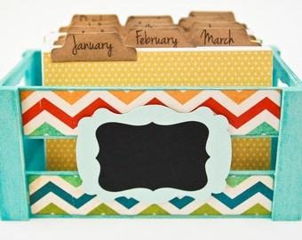 Perpetual Calendar Daily Journal Box