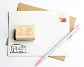 Shasta Trailer Rubber Stamps / Retro Camper / Travel Trailer / Illustration