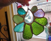 Pixie Teardrop  - Cute and Sassy Stained Glass Suncatcher with Prism