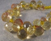 RESERVED - Custom Yellow Faceted Bubbles Necklace