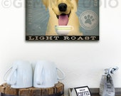 Yellow Dog Labrador Coffee Company graphic art on gallery wrapped canvas by Stephen Fowler
