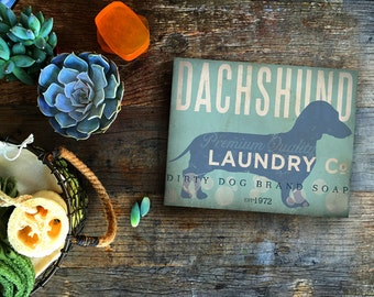 DACHSHUND dog laundry house laundry room artwork on gallery wrapped canvas by Stephen Fowler