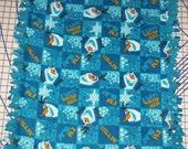 Disney Frozen I'm Olaf Fleece Baby Blanket Pet Lap Chillin I Love Warm Hugs