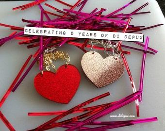 Last one!!! REVERSIBLE HEART laser cut necklace