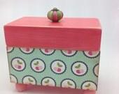Cherry Decoupaged Recipe Box