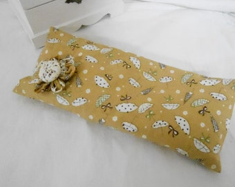 Eye Pillow - Heat Pack with Removable Cover - Lemon with Umbrellas