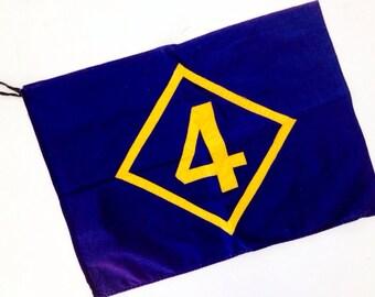 Scouts Honor... Vintage 1950's Number 4 Boy Scout Cub Scout Troop Flag