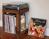 Handcrafted Record Player Stand Made from Reclaimed Wood * FREE SHIPPING