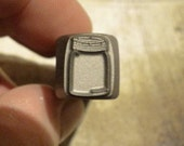 BIG Design Stamp - MASON JAR - new size 1/2 inch (12.5mm) - includes How to Stamp Metal tutorial