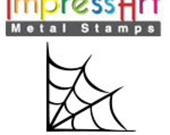 Design Stamp - SPIDER WEB- 6mm stamped image by ImpressArt -  includes How to Stamp Metal tutorial